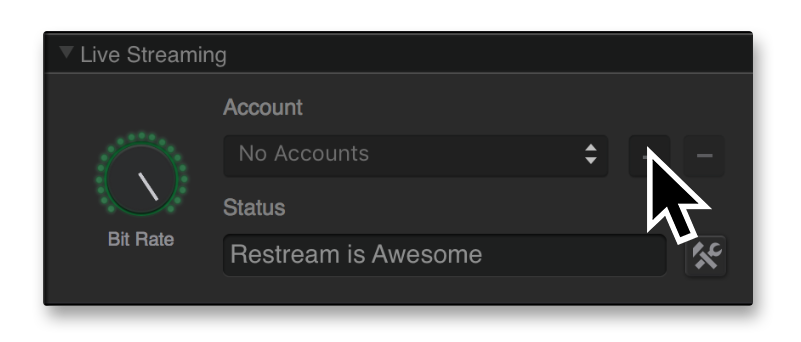 Add account in Game Capture HD